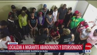 FOTO: Localizan a migrantes abandonados y extorsionados en Chiapas, 13 Julio 2019