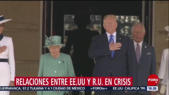 FOTO: Londres indaga críticas filtradas contra Trump