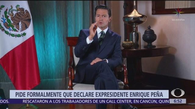 Lozoya pide a juez que cite a comparecer a Peña y Videgaray