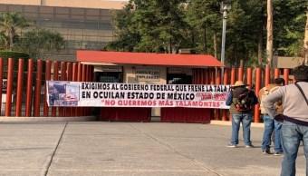 Foto Manifestantes bloquean los accesos a la Cámara de Diputados 18 julio 2019
