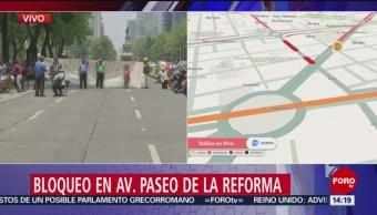 FOTO: Manifestantes bloquean Paseo Reforma CDMX