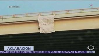 Manta dirigida a AMLO se colocó en Celaya, Guanajuato
