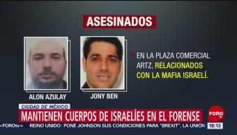 Foto: Mantienen Cuerpo Israelíes Forense Cdmx 25 Julio 2019