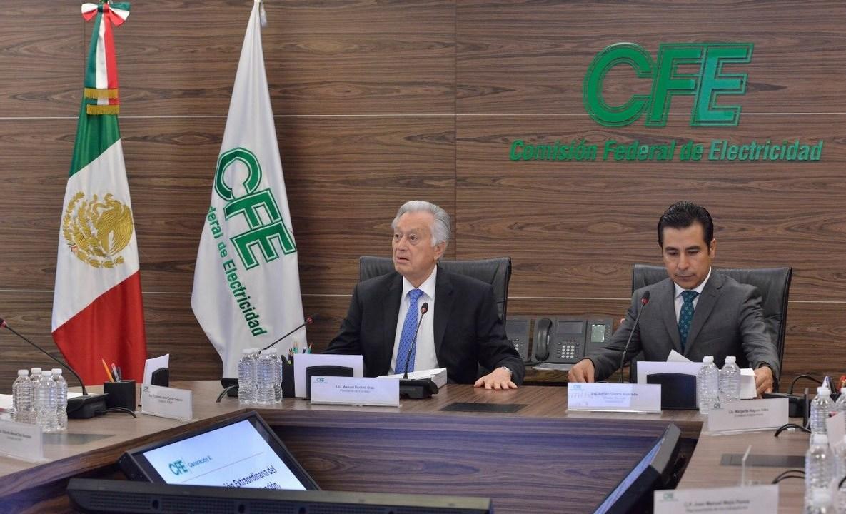 Manuel Bartlett, director de la CFE.
