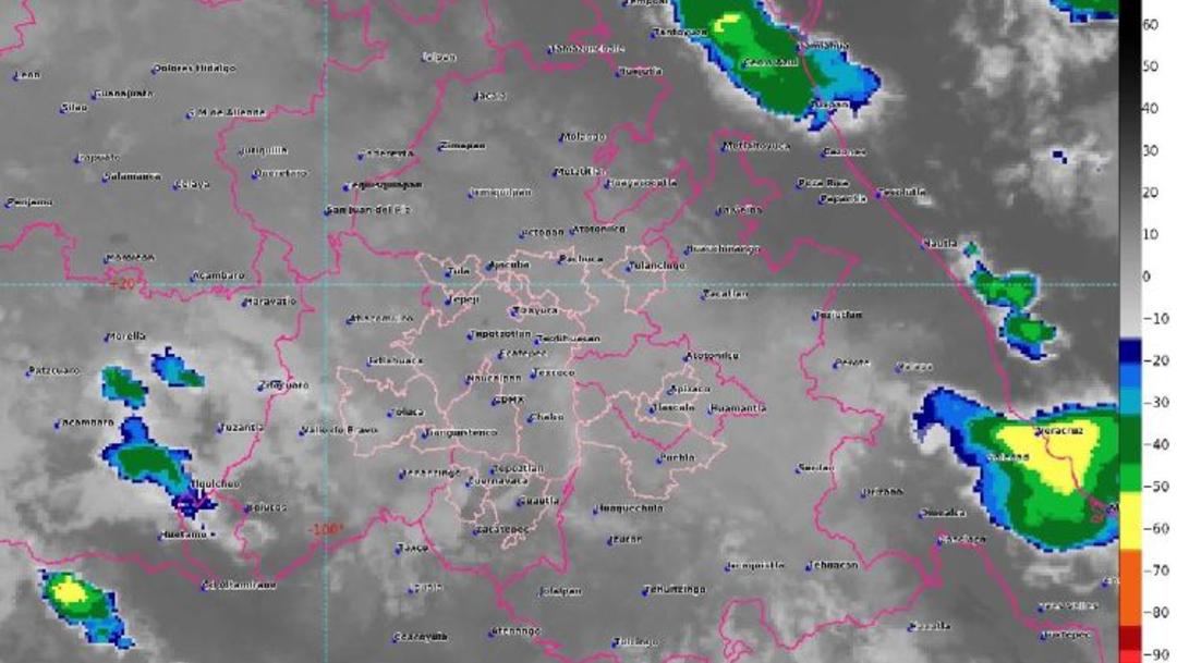 Foto: En la imagen de satélite se observa cielo medio nublado en el centro del país, 28 julio 2019
