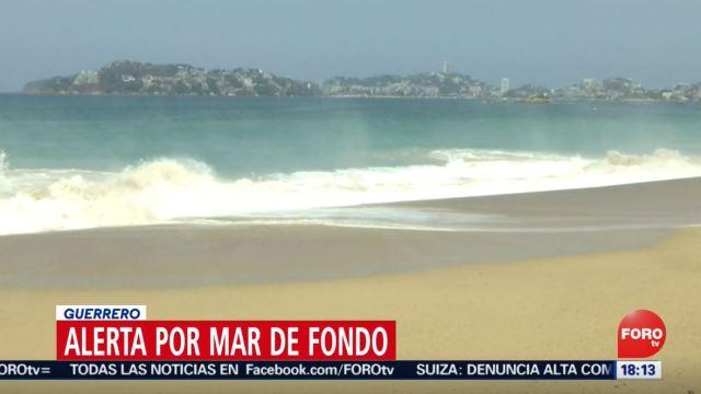 Foto: Mar de fondo provoca alto oleaje en el Pacífico, 4 de julio de 2019 (Noticieros Televisa)