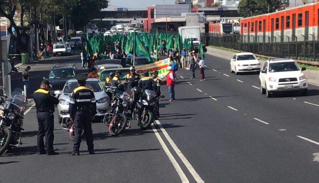 Foto Campesinos marchan sobre calzada de Tlalpan 22 julio 2019
