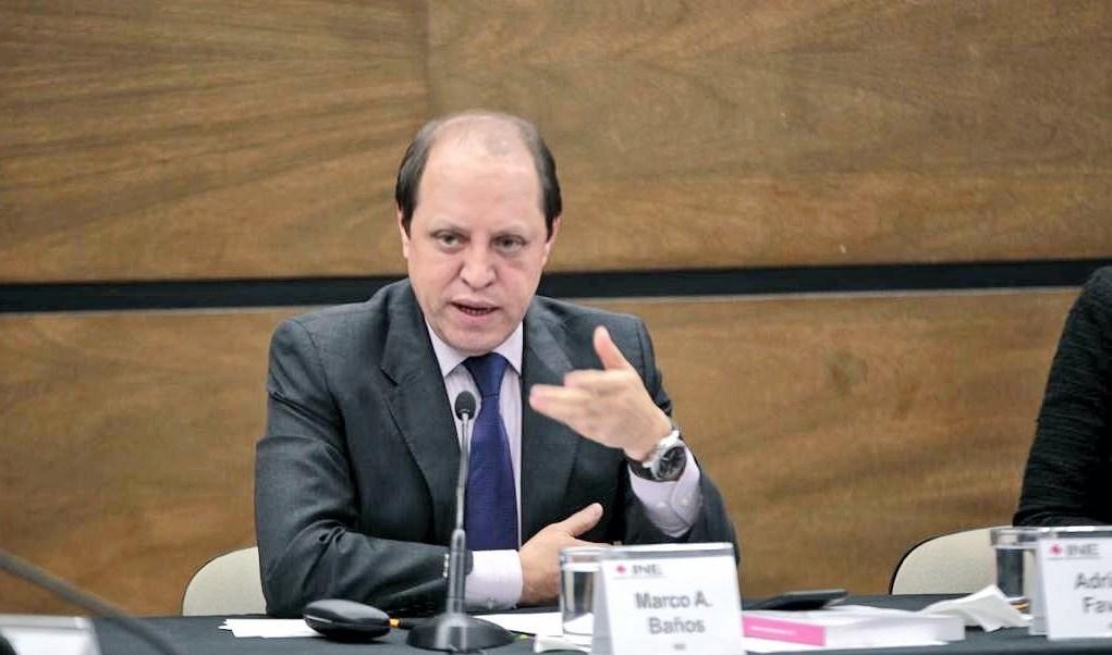 Foto: Marco Antonio Baños, consejero del INE, Twitetr @MarcoBanos