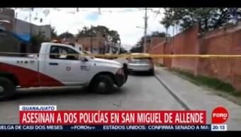 Foto: Matan Dos Policías San Miguel Allende Guanajuato 23 Julio 2019