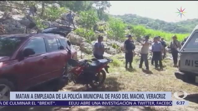 Matan a empleada de la Policía municipal de Paso del Macho, Veracruz