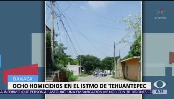 Matan a ocho personas en Oaxaca