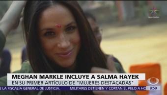 Meghan Markle elige a Salma Hayek para artículo en 'Vogue'