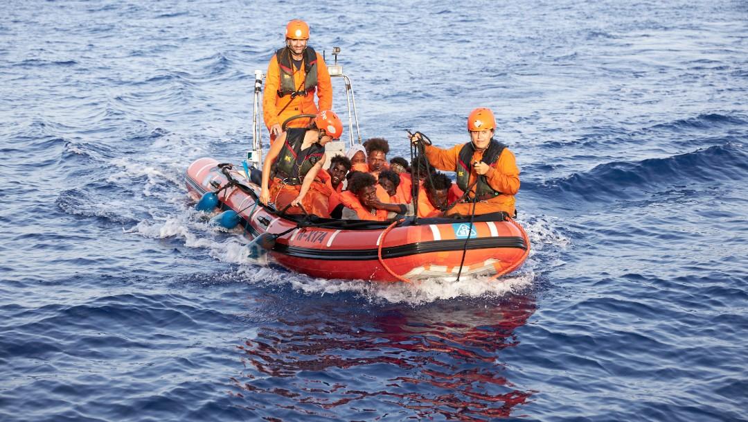 Foto: Evacuación de migrantes en el mar Mediterráneo, 5 de julio de 2019, Libia