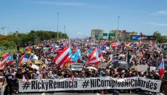 Foto Miles de puertorriqueños marchan para exigir la renuncia del gobernador Ricardo Rosselló 22 julio 2019