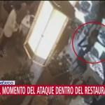 Momento del ataque en el restaurante de Artz Pedregal