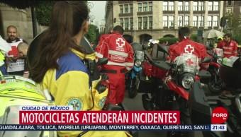 FOTO: Motocicletas atenderán incidentes en Ciudad de México, 14 Julio 2019