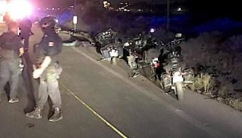 Motociclistas asesinados en Chihuahua.