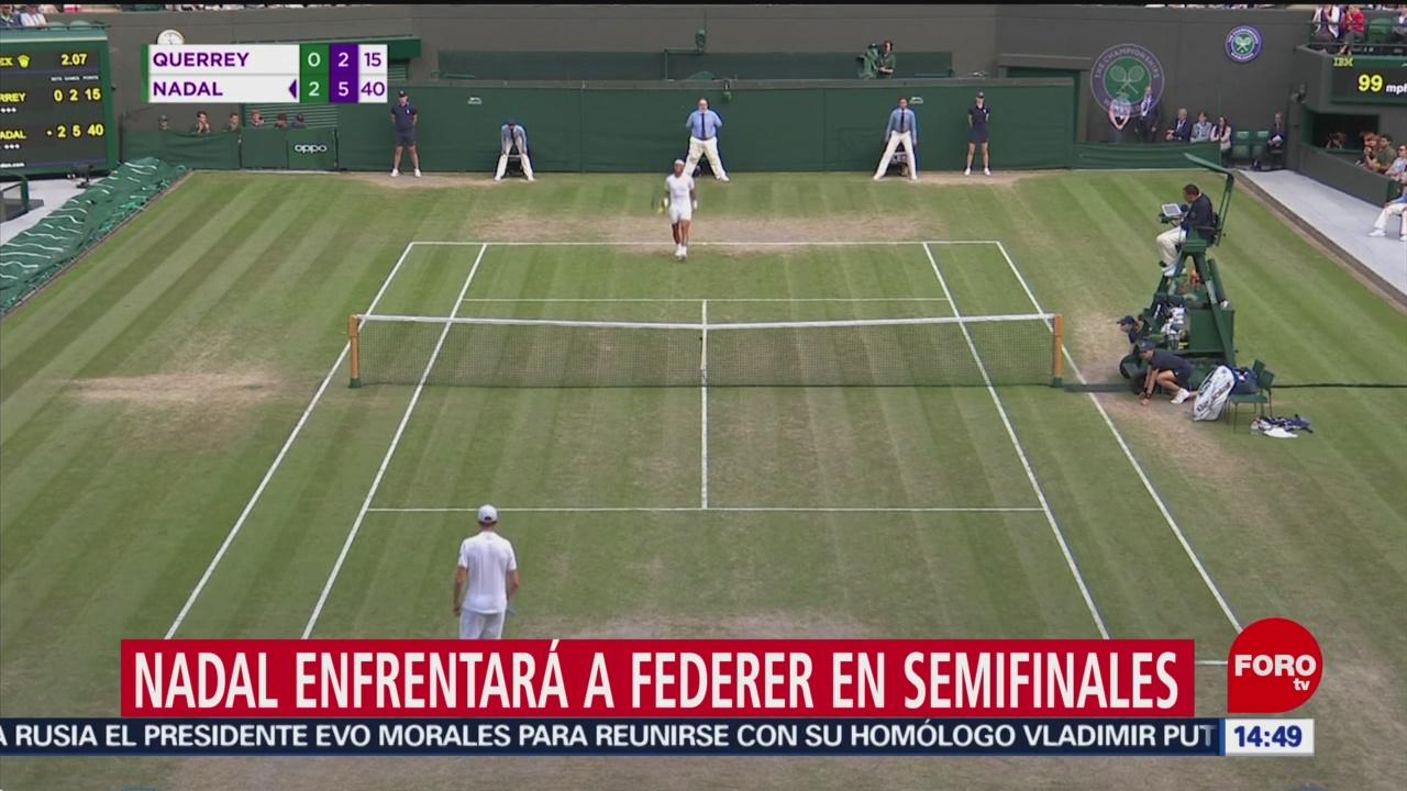 FOTO: Nadal se enfrentará con Federer en semifinal de Wimbledon