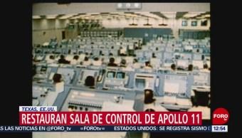 NASA restaura sala de control del Apolo 11