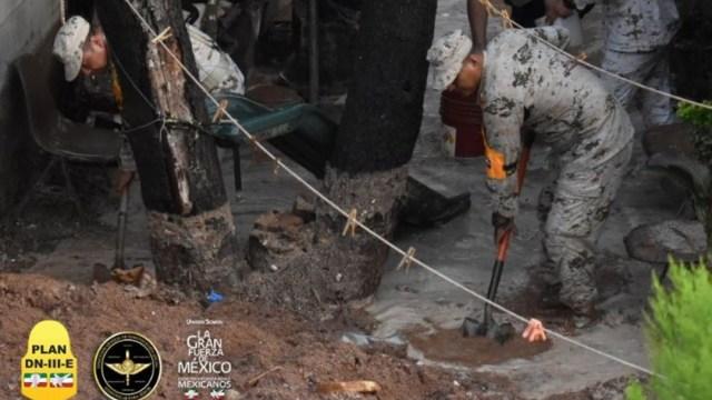 Foto: Personal militar realiza remoción de árboles, desazolve de coladeras, labores de limpieza y retiro lodo en viviendas afectadas, 18 julio 2019