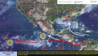 Foto: En Colima, las lluvias han sido moderadas, sin embargo, han causado afectaciones, 12 de julio del 2019 (Twitter @conagua_clima)