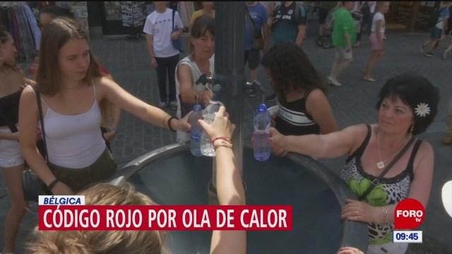 Ola de calor afecta a Bélgica