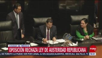 Foto: Oposición Rechaza Ley Austeridad Republicana 2 Julio 2019