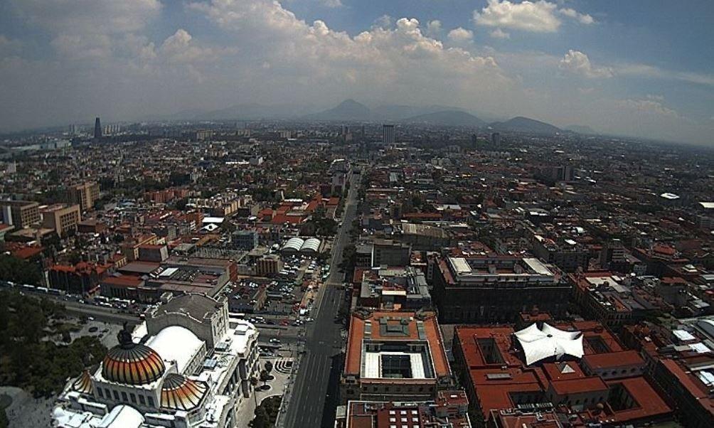 panoramica de la ciudad de méxico, del 22 de julio 2019