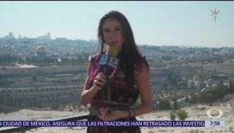 Paola Rojas, desde el Monte de los Olivos