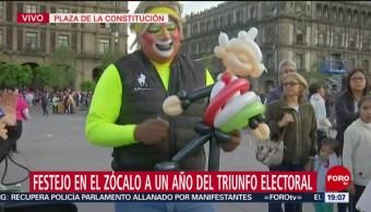 Foto: Figura Amlo Globos 1 Julio 2019