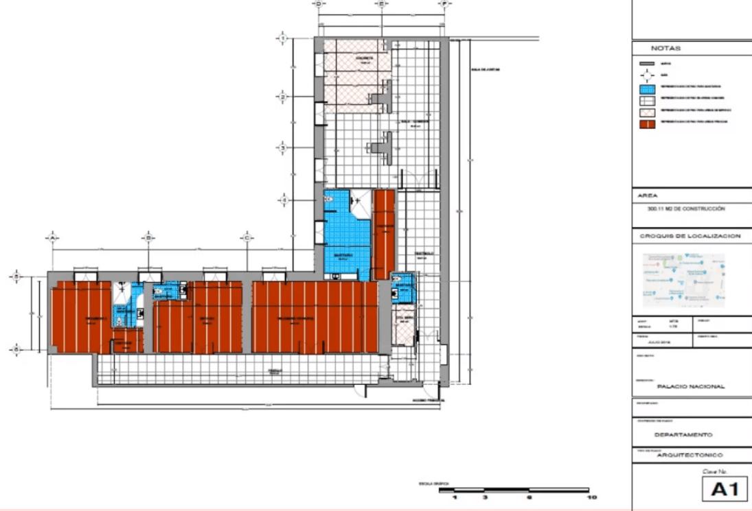 IMAGEN Plano del departamento que habita AMLO dentro de Palacio Nacional (YouTube)
