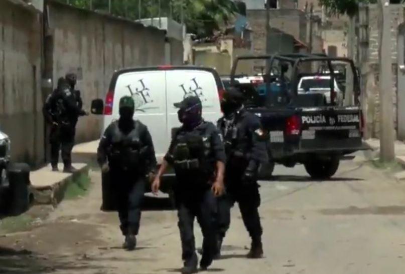 Policías federal durante operativo en calles de Jalisco