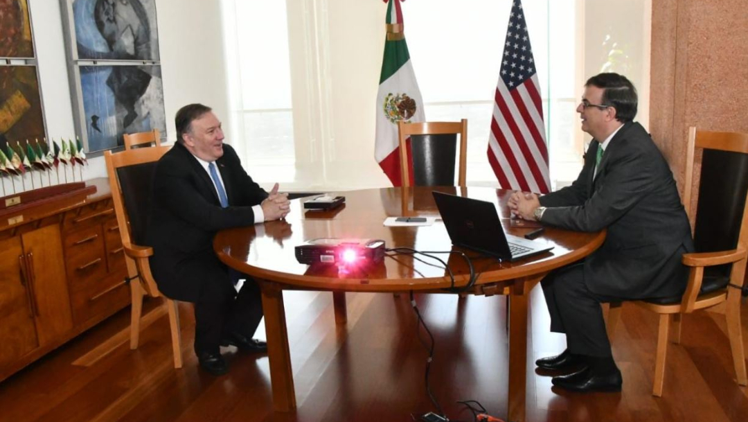 Foto: La Cancillería mexicana califica el encuentro como un éxito, el 21 de julio de 2019 (SRE)