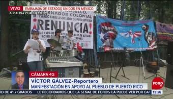 Foto: Protestan Manifestantes Embajada Estados Unidos CDMX 25 Julio 2019