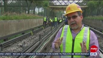 FOTO: Realizan obras en la Línea 3 del Metro en Ciudad de México, 14 Julio 2019