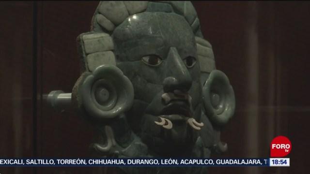 FOTO: Réplica de Máscara de Calakmul es exhibida en Oaxaca