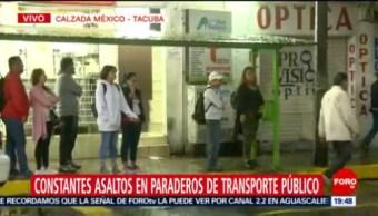 Foto: Asaltos Paraderos Transporte Público Cdmx 19 Julio 2019