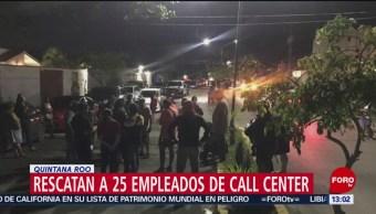 FOTO: Rescatan a 25 personas presuntamente secuestradas en Cancún