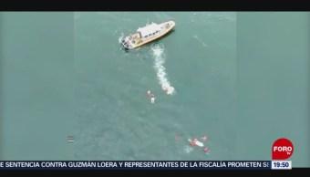 Foto: Rescatan 8 Personas Yate Hundía Ensenada Baja California 17 Julio 2019