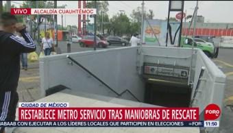 Restablecen servicio en la estación Chabacano del Metro CDMX