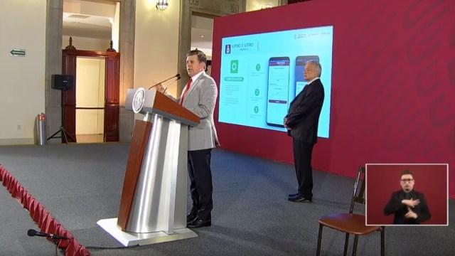 Foto: Ricardo Sheffield Padilla, titular de Profeco, presenta app para combustibles, 2 de julio de 2019, Ciudad de México