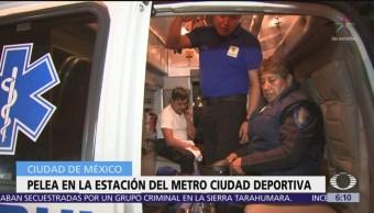 Riña en Metro Ciudad Deportiva deja un saldo de 4 policías heridos