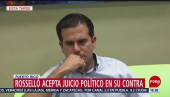 FOTO: Rosselló acepta juicio político en su contra, 21 Julio 2019