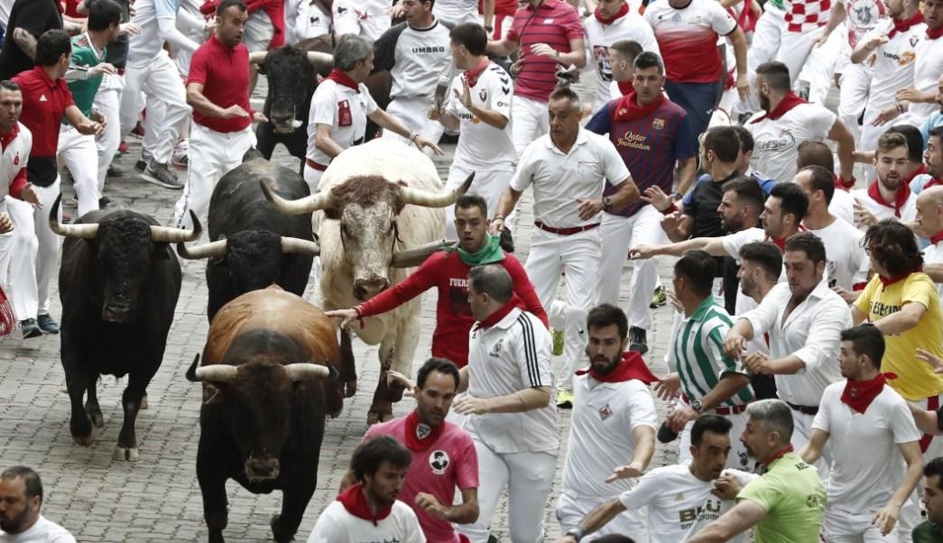 Segundo encierro de San Fermín deja cuatro lesionados