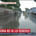 Foto: Desborda Río De Los Remedios Gam Cdmx Hoy 25 Julio 2019
