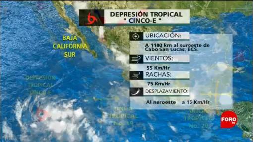 Se forma la depresión tropical 5-E en el Océano Pacífico