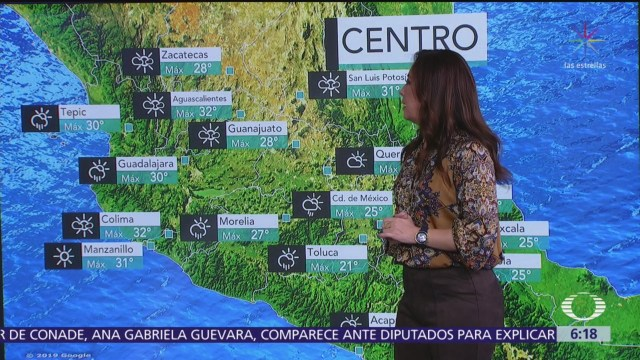 Se prevén lluvias de diferente intensidad en 29 estados de México