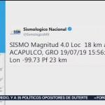 Se registra sismo en Guerrero