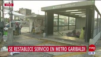 Se restablece el servicio en todas las estaciones de la Línea 8 del Metro CDMX