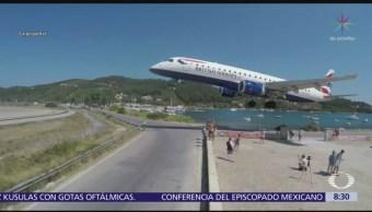 Selfies en aterrizaje de aviones